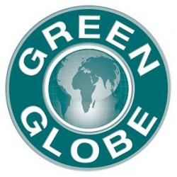 green globe logo photo